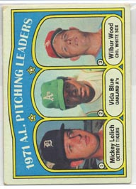1972 Topps Baseball Cards      094      Mickey Lolich/Vida Blue/Wilbur Wood LL